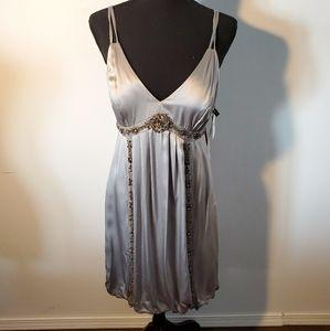 NWT Sue Wong Silk Rhinestone Evening Dress